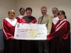Hand over of Cheque to the Home Care Team with Dr. Ian Wilson.