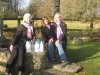 Fran, Agnes and Marianne getting water from St. Brigids well in Kildare for the Gospel Choir Service of Healing.